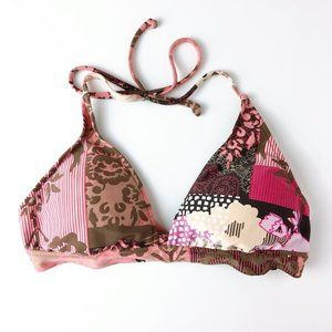 Lucky Brand Bathing Suit Halter Top Boho Style